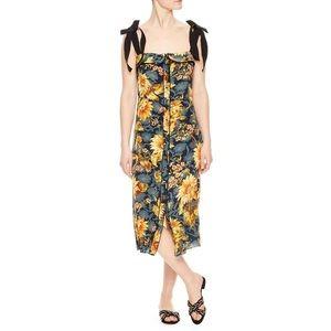 Sandro Suset Floral Silk Dress Size 34